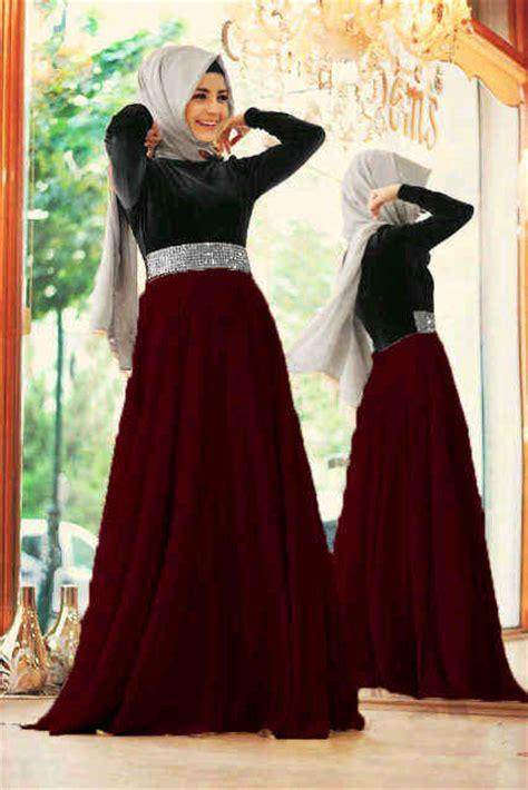 Baju Terusan Wanita Muslim Longdress Karisma Jumbo Maxy baju gamis modern mix satin model dress remaja terbaru