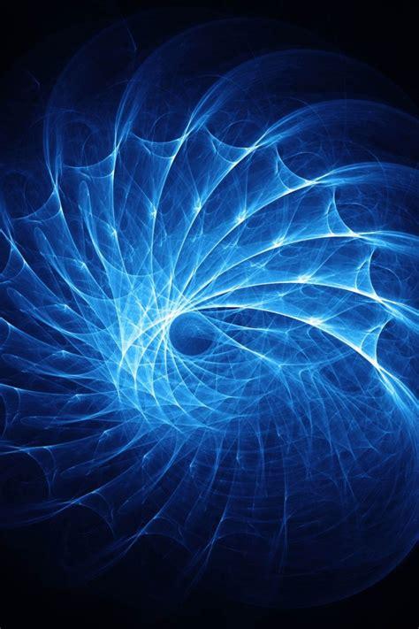 wallpaper blue fractals pattern  abstract