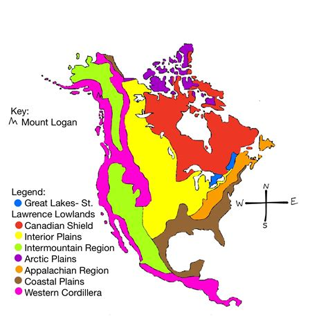 america map geographic regions physical regions kaitlyn s