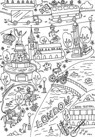 Dibujo de Queen Victoria Memorial y Agujas de Cleopatra