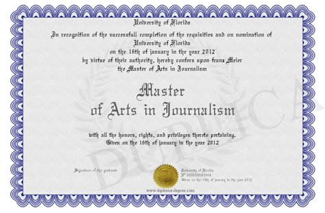 Journalism Degree by Master Of Arts In Journalism