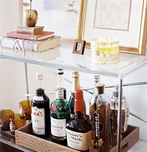 My Home Bar Lovely Interiors Bar Trays And Bar Carts Layers Of