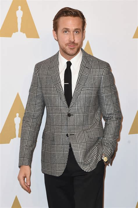Salvatore Ferragmo 1965 gosling is mojo free at the academy awards nominee luncheon tom lorenzo