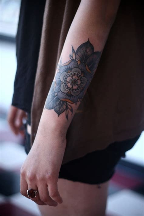 Tattoo Flower Forearm | cute floral arm tattoo best tattoo ideas designs