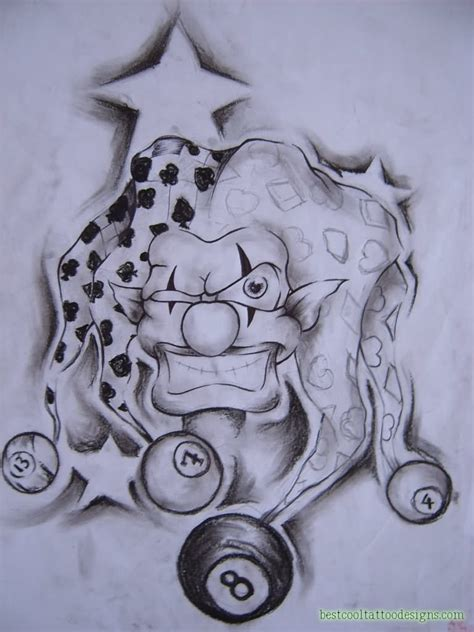 crazy cool tattoo designs clown joker designs best cool designs