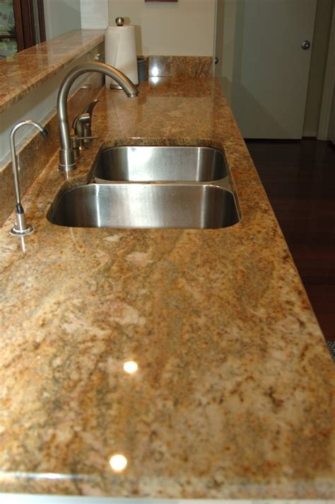 Yellow Kitchen Countertops - shalimar gold cape fear marble and tile