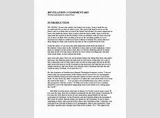 Revelation 1 commentary Revelation 21 22 Commentary