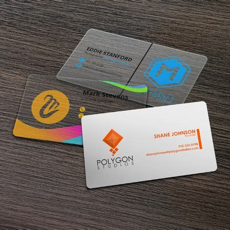 3d Plastic Business Cards
