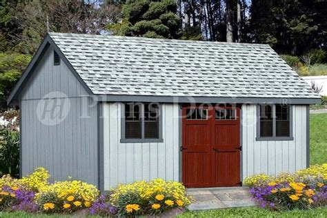 shed plans    reverse gable roof style dg