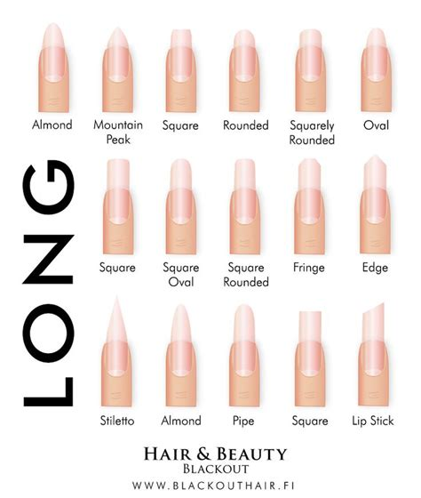 8 Nail Shapes And How To Choose The One For You by 1000 Ideas About Different Nail Shapes On