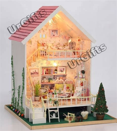 doll house minitures dollhouse miniature diy kit w light sweet heart whisper romantic love
