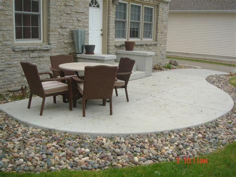 Cost Of New Patio by Patio Cost For Concrete Patio Home Interior Design