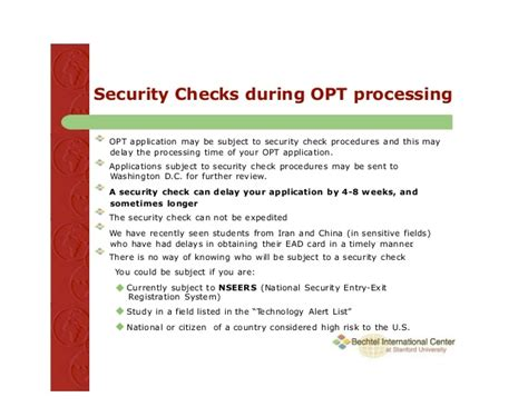 Uscis Background Check Process Time How And When To Apply For Opt F1 Visa Students