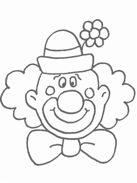 clown template preschool free printable clown coloring pages for