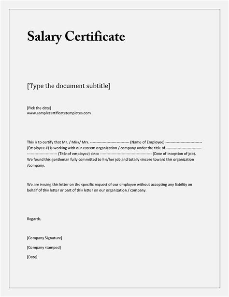 Official Letter Format Salary Salary Letter Format Word It Resume Cover Letter Sle