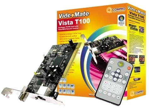 Tv Tuner September compro launches videomate vista t100 tv tuner mceworld