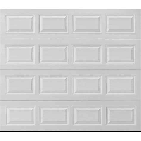 shop reliabilt traditional 9 ft x 8 ft white garage door