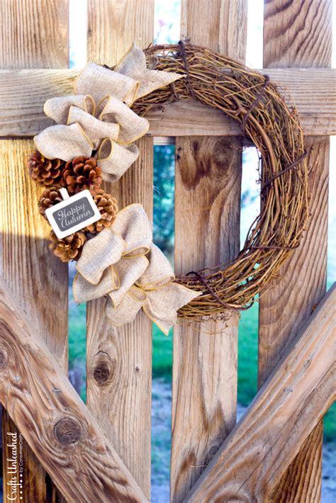 rustic diy crafts diy fall wreath rustic burlap crafts unleashed