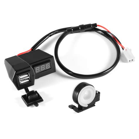 Motorcycle Usb Charger 1 Port motorcycle charger 3 1a dual usb fast charging port w led voltmeter ma1037 ebay