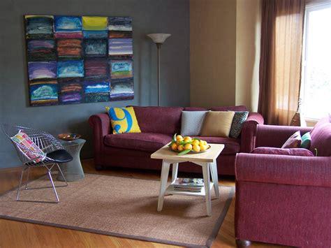 burgundy and blue living room 小型客厅沙发设计效果图 土巴兔装修效果图