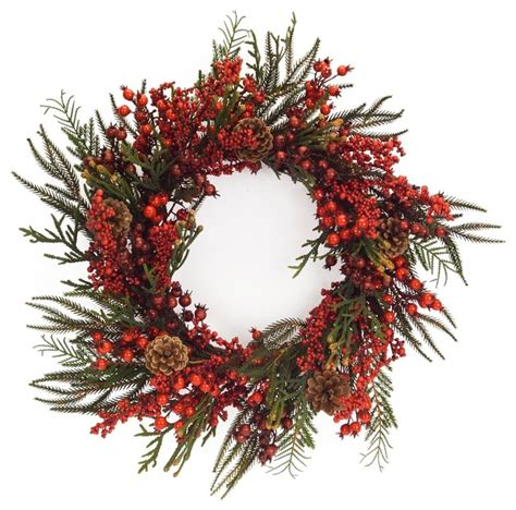 christmas reefs for sale winter berry wreath rustic wreaths and garlands by international llc
