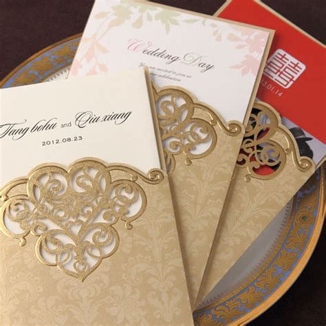 Gold Wedding Invitation Cards by Buy Wholesale Wedding Invitations From China