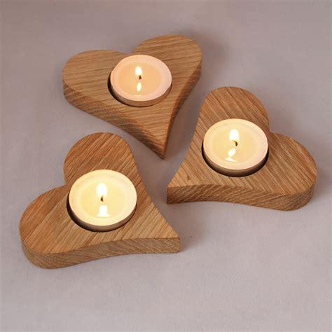 Tea Candle Holders by Oak Tea Light Candle Holders Set Of Three