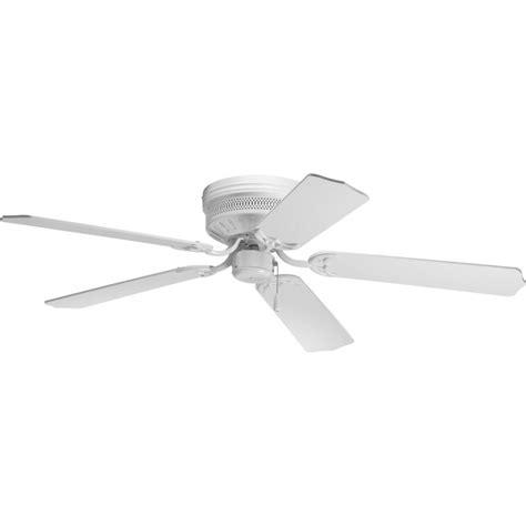 24 inch flush mount ceiling fan progress lighting p2525 30 white hugger 52 quot 5 blade flush