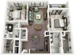 Square Kitchen Island 50 two quot 2 quot bedroom apartment house plans architecture