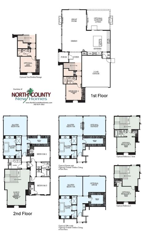 westerly at rancho tesoro new home floor plans