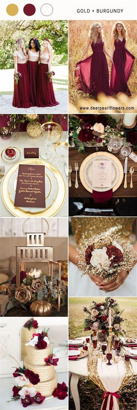 gold and burgundy wedding color ideas burgundyweddingideas fall wedding themes