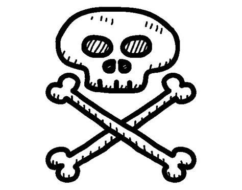 imagenes de calaveras piratas para imprimir dibujo de calavera pirata para colorear dibujos net
