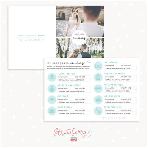 Concessions Business Card Template by Preferred Vendors Card Template Strawberry Kit