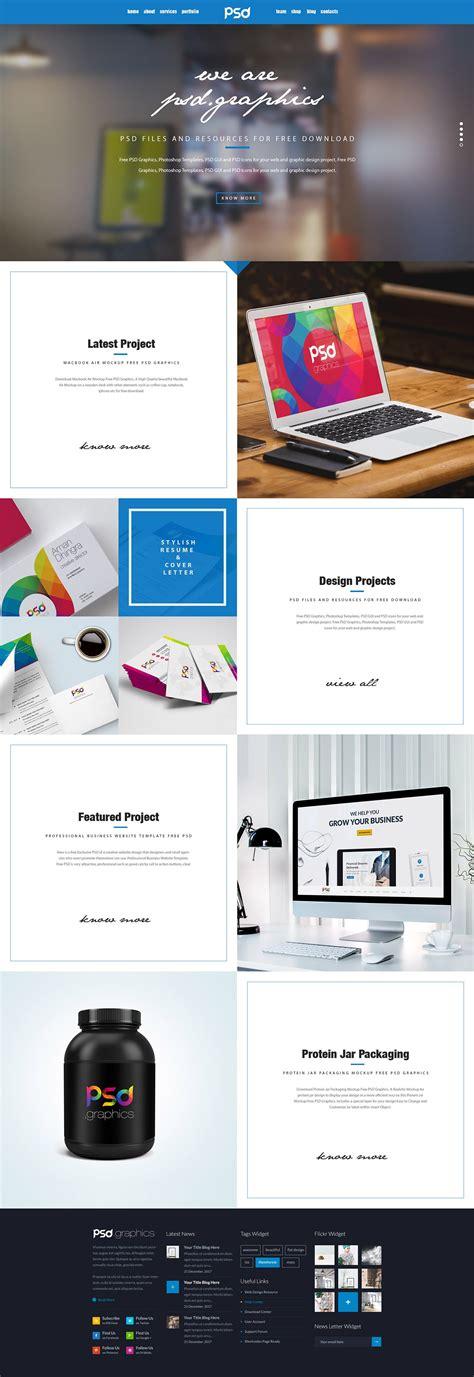 Personal Portfolio Website Template Free Psd Graphics Psd Graphics Personal Portfolio Template Free