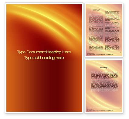 background templates for word orange background word template 10599 poweredtemplate com