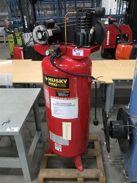HUSKY PRO 5 HP UPRIGHT AIR COMPRESSOR W/ 60 GALLON TANK   Able Auctions