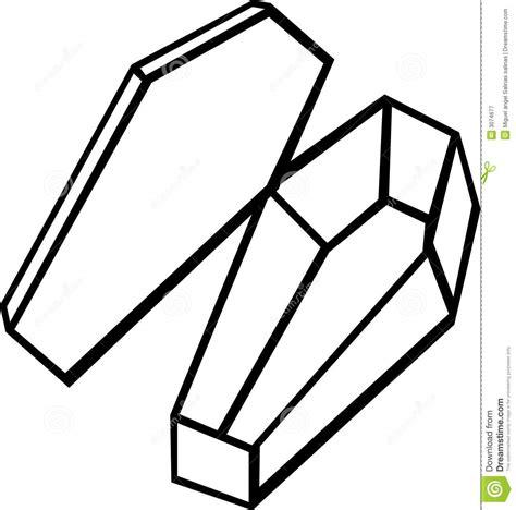 empty coffin vector illustration royalty free stock