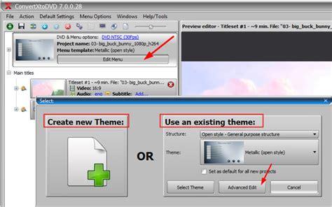 convertxtodvd menu templates convertxtodvd menu editor