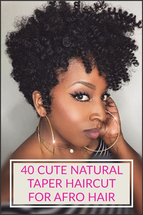 How To Style Tapered Hair by 40 Taper Haircut For Afro Hair Style Designs