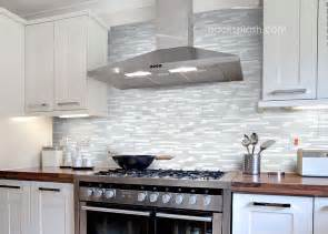 Glass Kitchen Tiles For Backsplash Elegant White Marble Amp Glass Kitchen Backsplash Tile