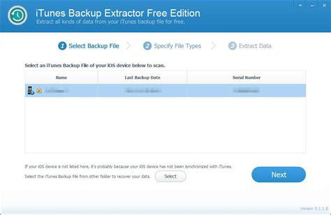 best iphone backup extractor best iphone itunes backup extractor software free