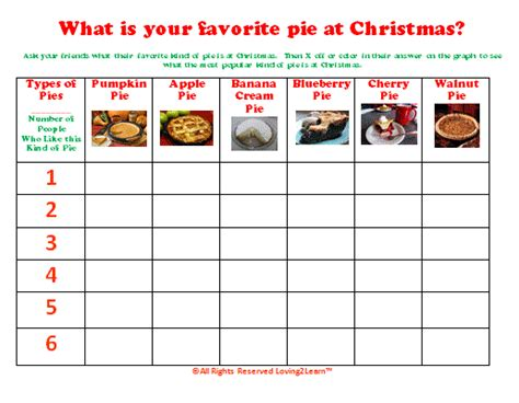 What Is Your Favorite Of Pie by Math Printable Graph And Learning Math