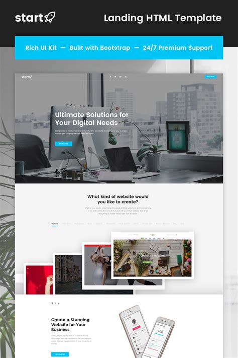 Business Landing Page Template 66760 Templates Com Business Landing Page Template