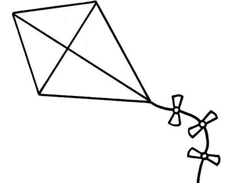 kite clipart black and white clipart best