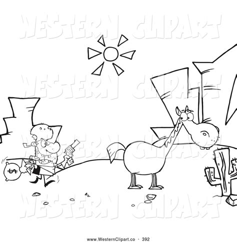 Western Landscape Coloring Page | country western coloring pages western landscape