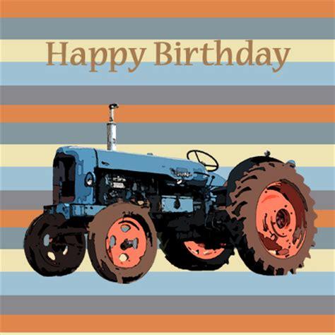 Tractor Birthday Card Blue Tractor Happy Birthday Card Blue Tractor Happy