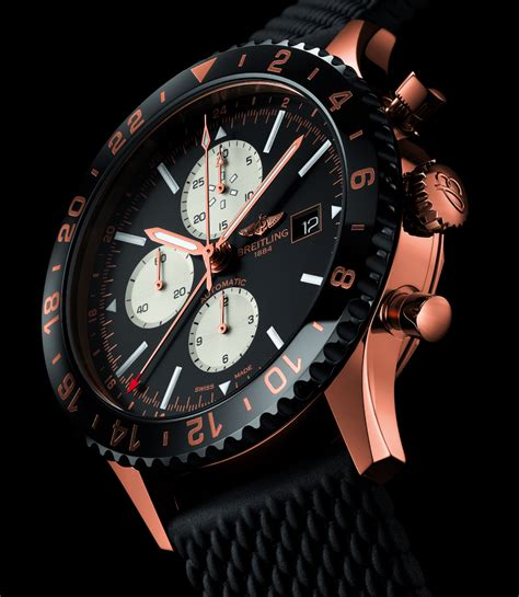 Breitling Chronoliner Red Gold Limited Edition Watch   aBlogtoWatch