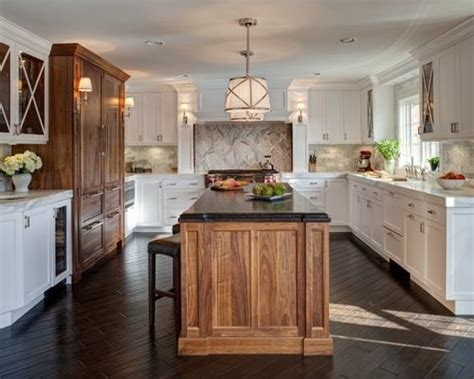 mixed kitchen cabinets mixed wood cabinets houzz