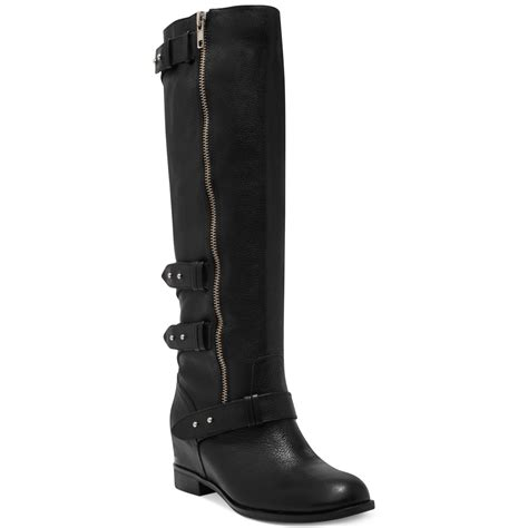 dolce vita marney shaft wedge boots in black
