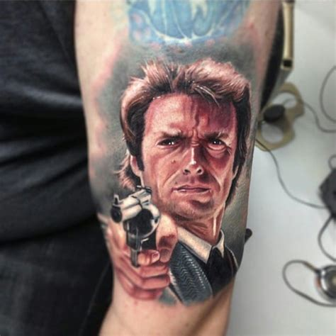 clint eastwood tattoo 10 badass clint eastwood tattoos tattoodo